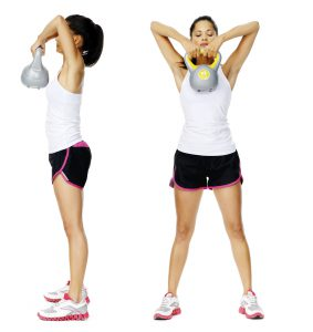 Kettle bell dumbell exercise